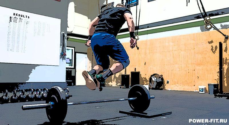 Упражнение в кроссфите № 2: прыжки через штангу